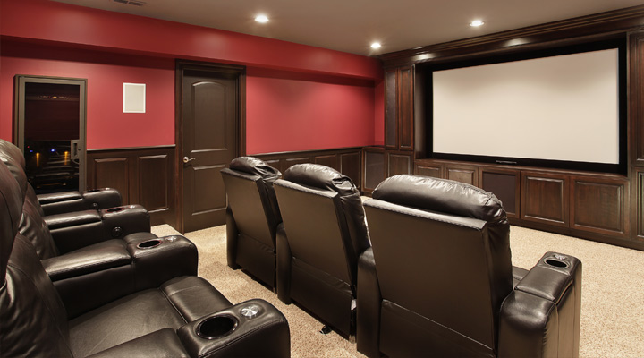 basement theatre room